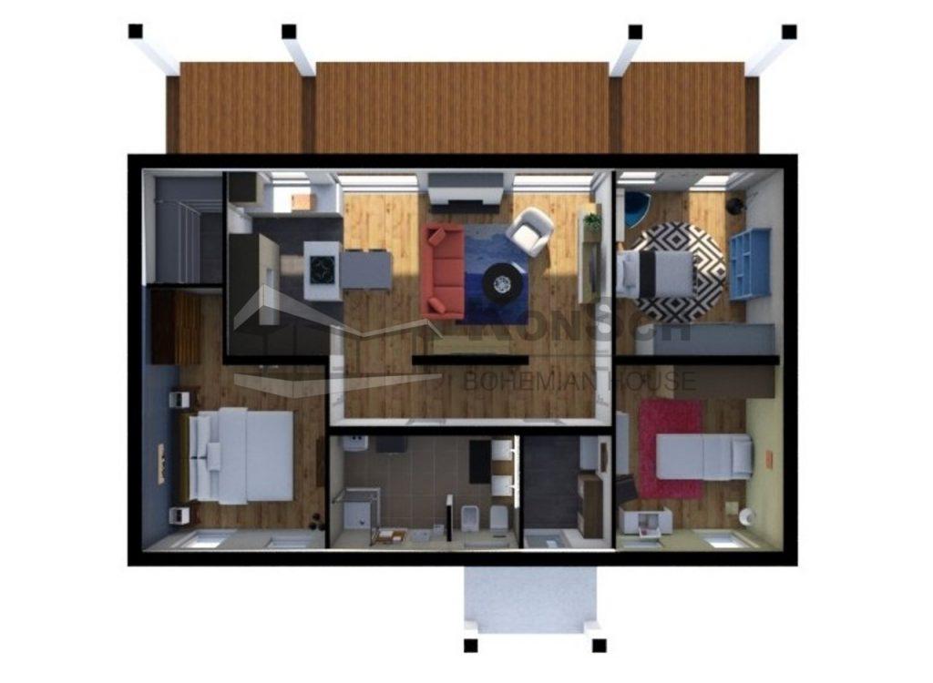 vizualizácia interiéru, pôdorys, zariadenie interiéru