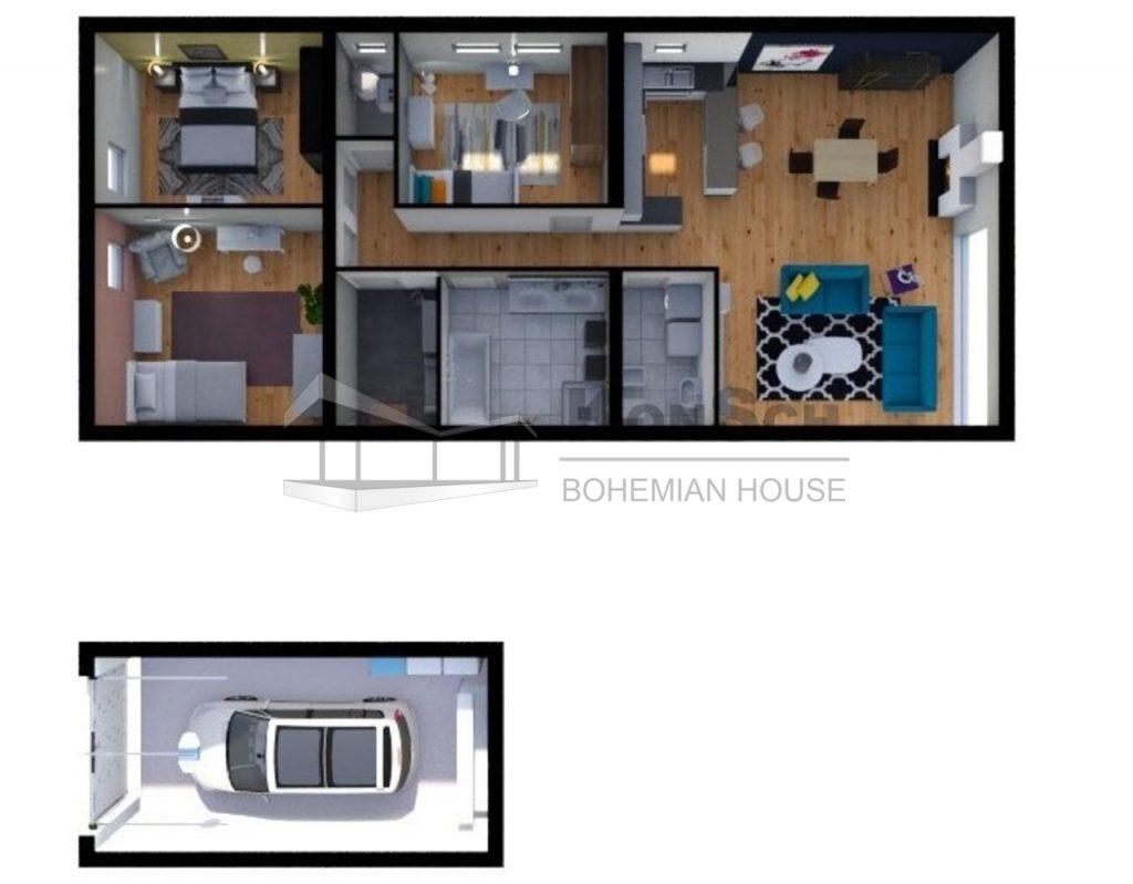 3D návrh interiéru, vizualizácia interiéru