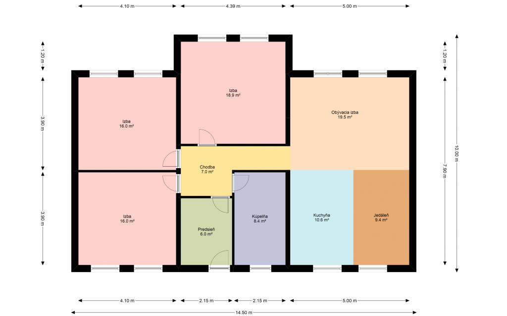 pôdorys domu, vizualizácia, dispozícia